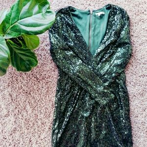 Charlotte Russe Green Sequin Dress